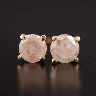 14K Gold 0.67 CTW Diamond Stud Earrings