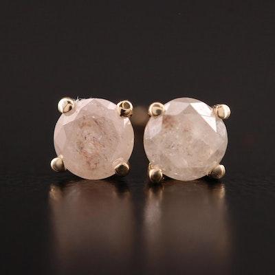 14K Gold 0.67 CTW Diamond Stud Earrings