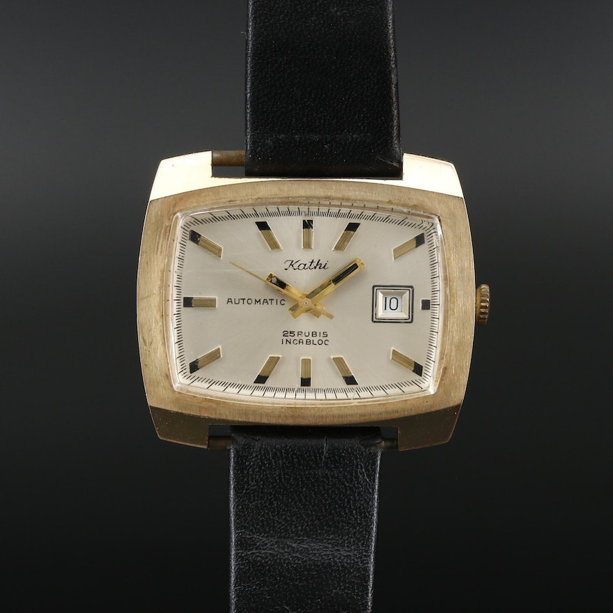 Vintage Kathi Gold Tone Automatic Wristwatch