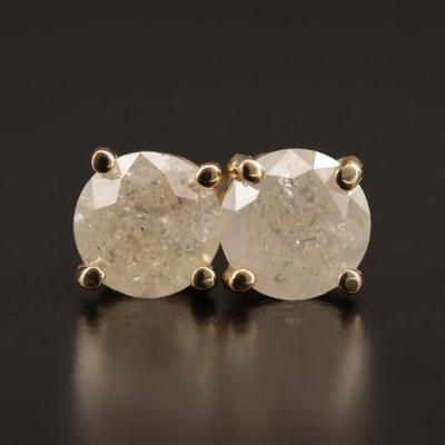 14K 1.01 CTW Diamond Stud Earrings