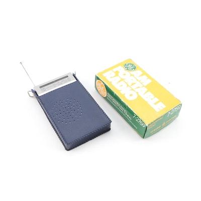General Electric AM Portable Radio with SR AM/FM Portable Radio