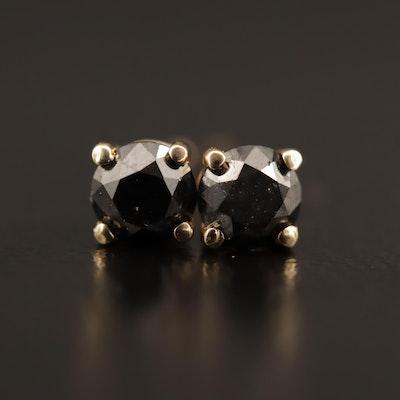 14K 0.64 CTW Black Diamond Stud Earrings