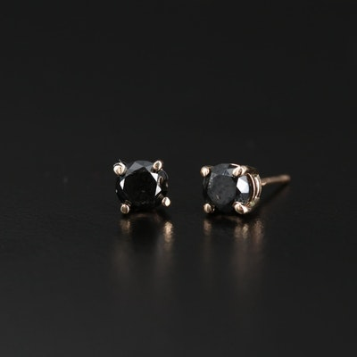 14K Gold 0.76 CTW Diamond Stud Earrings