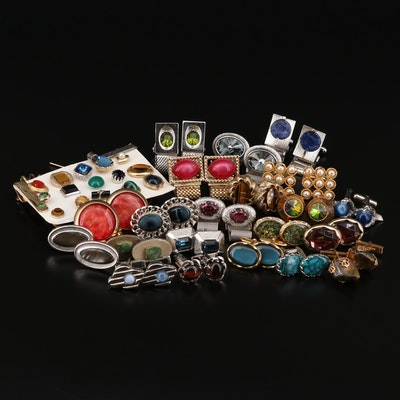 Vintage Tie Pins, Tie Clips and Cufflinks Featuring Danté, Swank and Shields