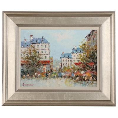 Cityscape Impasto Oil Painting