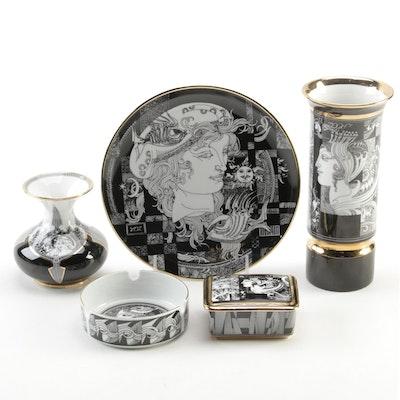 Endre Szasz for Hollóháza Hungarian Graphic Porcelain Collection