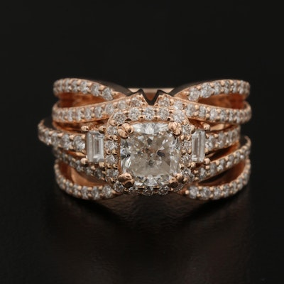 14K Rose Gold 2.37 CTW Diamond Ring