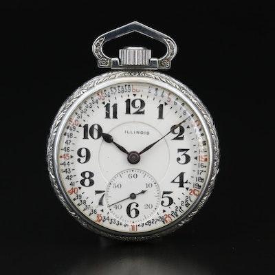 1916 Illinois Railroad Grade Open Face Pocket Watch