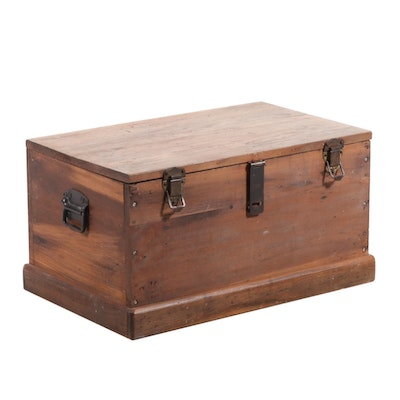 American Primitive Maple Chest, Mid to Late 20th Century