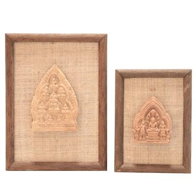 Thai Ceramic Buddha Triads