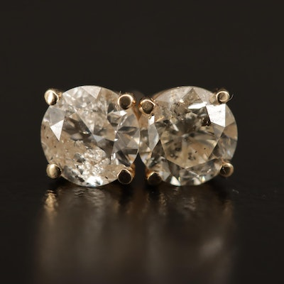 14K 1.34 CTW Diamond Stud Earrings