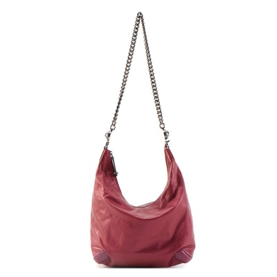Gucci Galaxy Chain Hobo Bag in Metallic Magenta/Fuchsia Leather