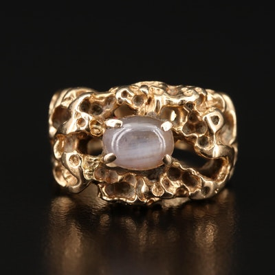 14K 1.71 CT Star Sapphire Organic Ring