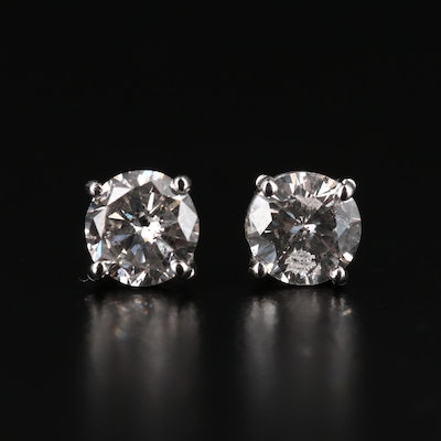 Platinum 1.33 CTW Diamond Stud Earrings