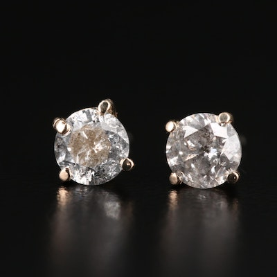 14K Gold 1.30 CTW Diamond Stud Earrings