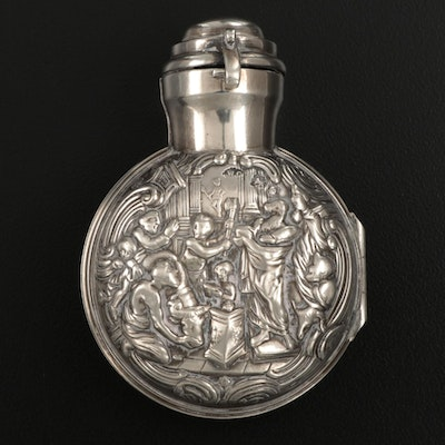 William Comyns & Sons English Sterling Silver Scent Bottle, 1899