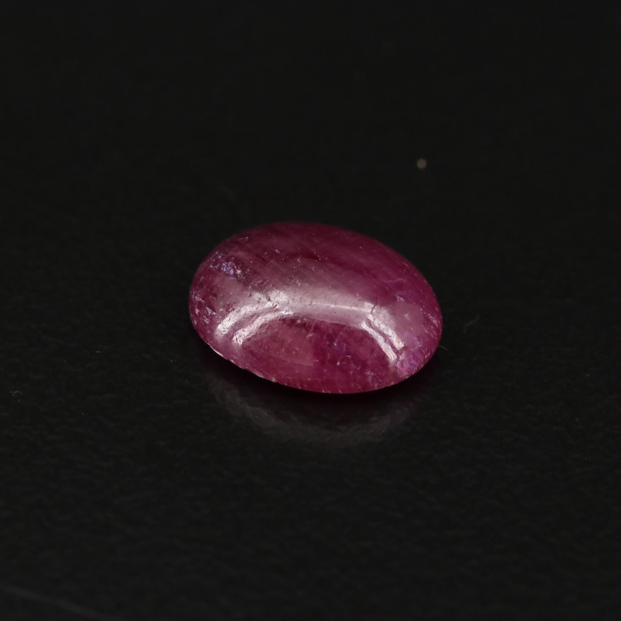 Loose 3.30 CT Oval Ruby Cabochon