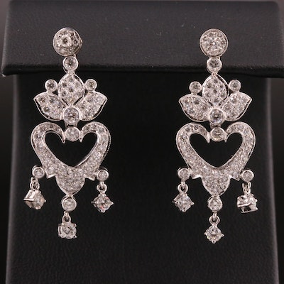14K 2.00 CTW Diamond Chandelier Style Earrings