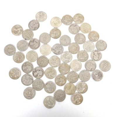 United States Silver Washington Quarters, Group of Fifty