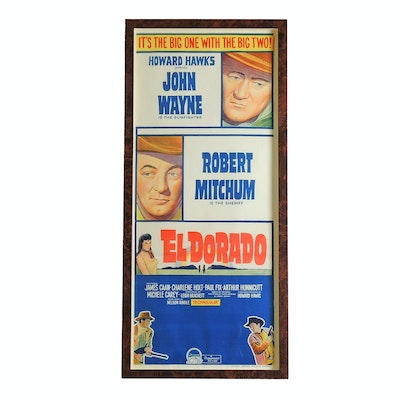 "Framed ""El Dorado"" Lithograph Insert Movie Poster, Mid 20th Century"