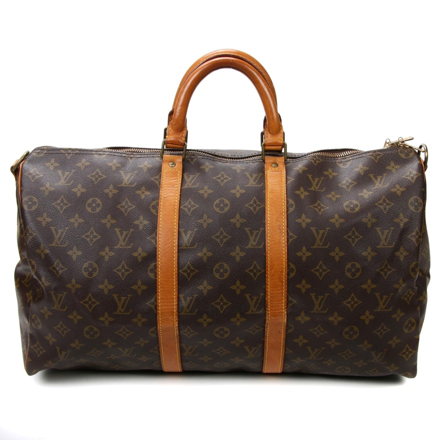 Louis Vuitton Malletier Keepall 50 in Monogram Canvas and Vachetta Leather