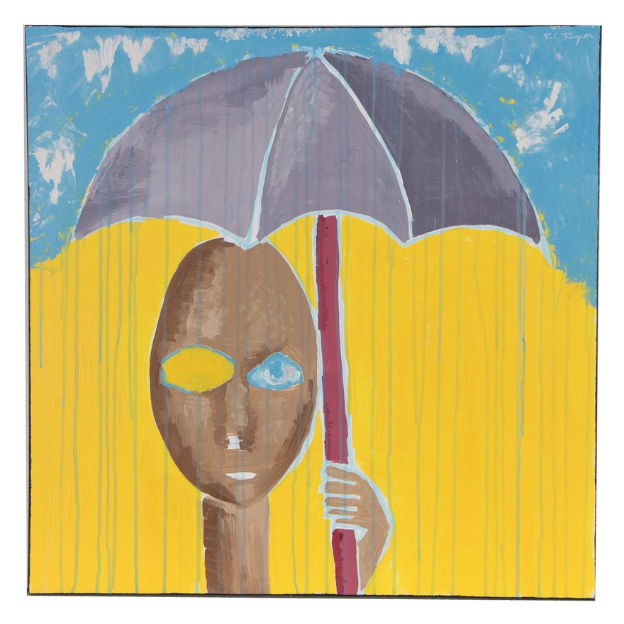 "R.C. Raynor Acrylic Painting ""Sunshower"""