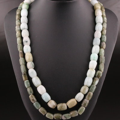 Jadeite Beaded Necklaces