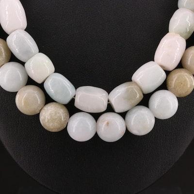 Jadeite Beaded Necklaces