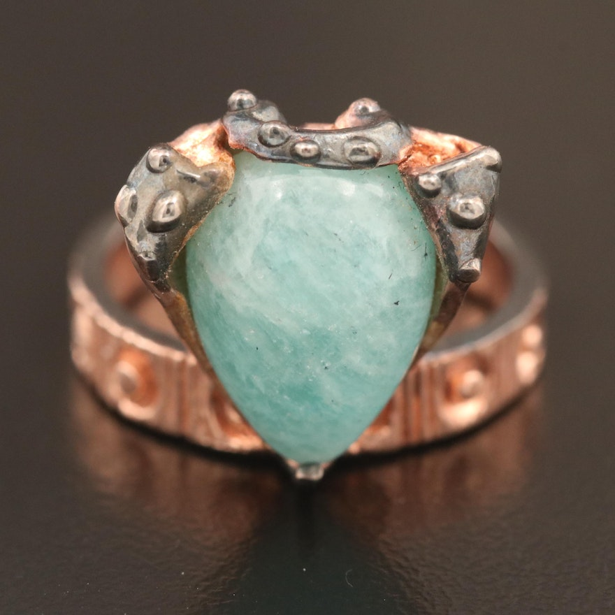Sterling Amazonite Ring