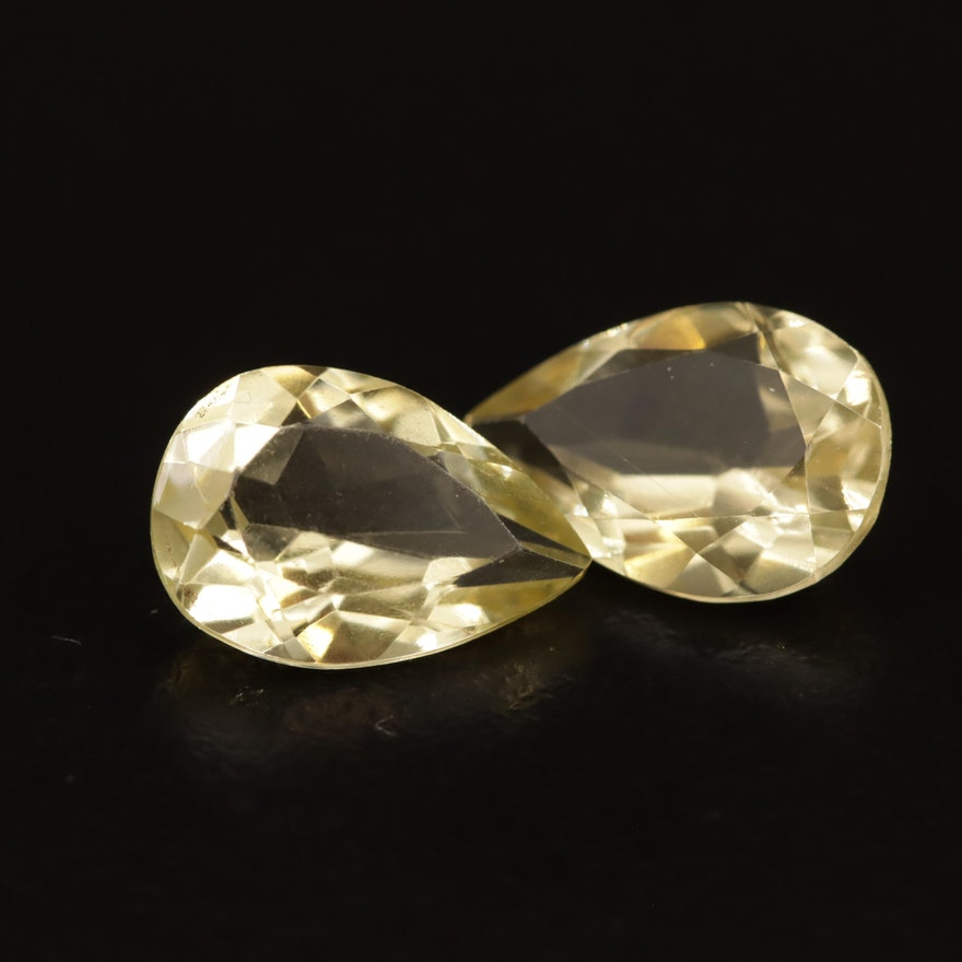 Loose 5.29 CTW Faceted Citrines