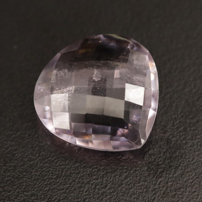 Loose 11.88 CT Pear Faceted Amethyst