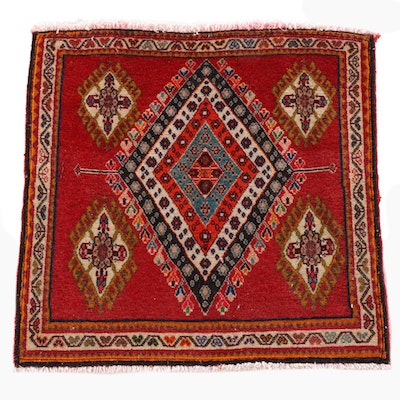 2'1 x 2'1 Hand-Knotted Northwest Persian Wool Floor Mat