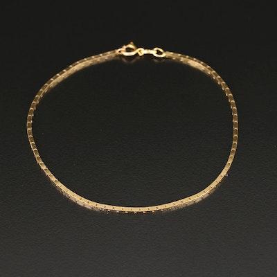 14K Box Style Chain Bracelet