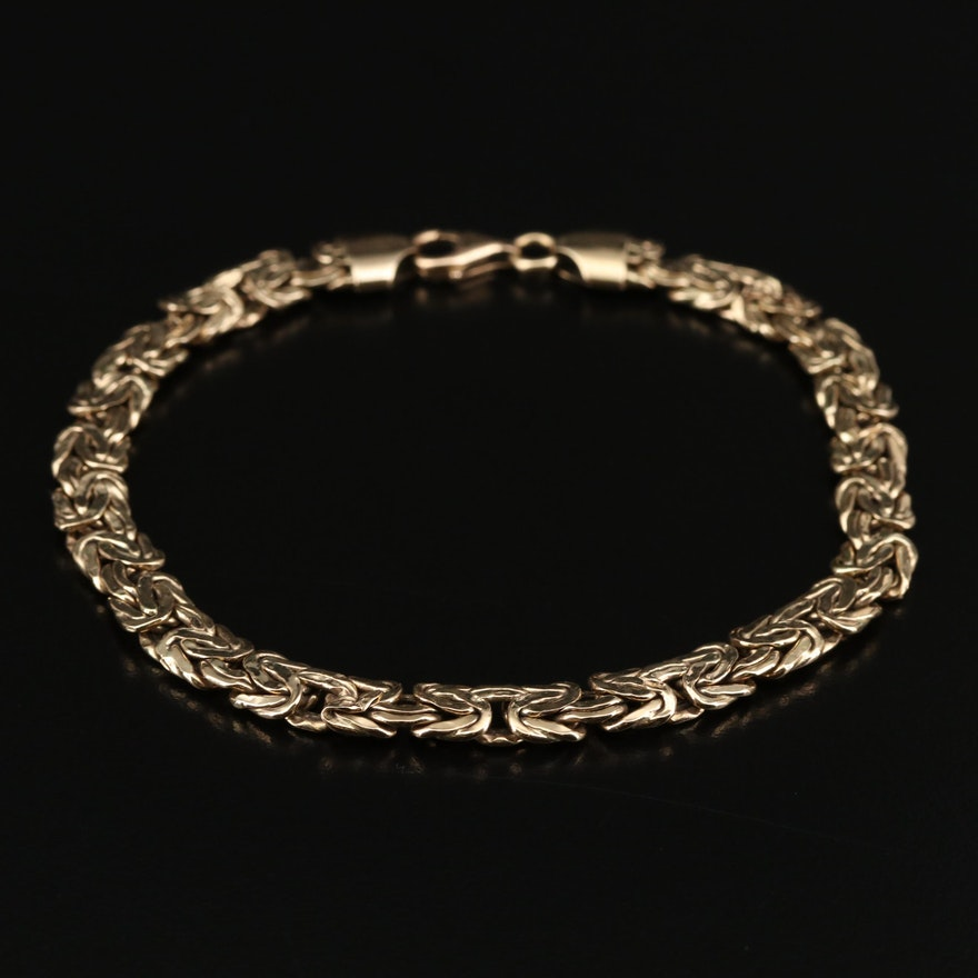 14K Gold Byzantine Link Bracelet