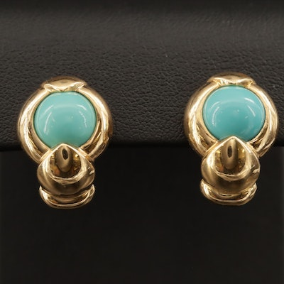 18K Turquoise Earrings