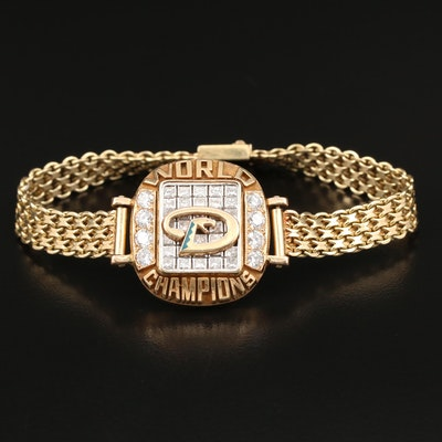 Arizona Diamondbacks 14K 2.68 CTW Diamond World Series Championship Bracelet