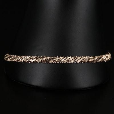 14K Gold Riccio Link Bracelet