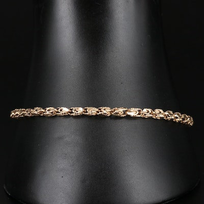14K Gold Turkish Rope Link Bracelet