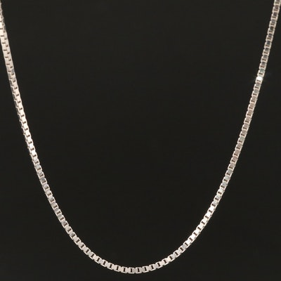 Aurafin 14K Box Chain Necklace