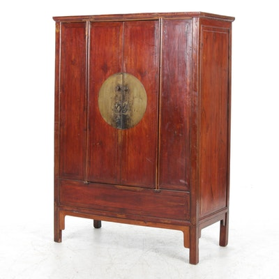 Chinese Fruitwood Wedding Cabinet