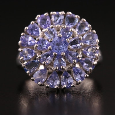 Sterling Silver Tanzanite Openwork Ring
