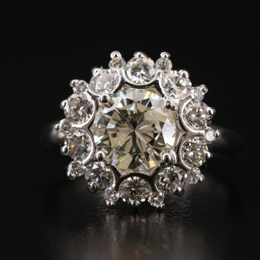 14K Gold 2.97 CTW Diamond Ring
