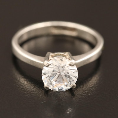 Sterling Cubic Zirconia Solitaire Ring