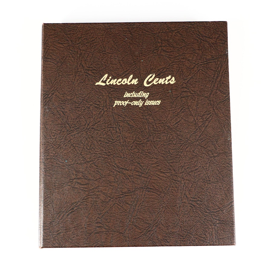Dansco Binder of Lincoln Cents, 1909 to 1995, Including Some Key Dates