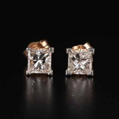 14K 1.20 CTW Diamond Stud Earrings