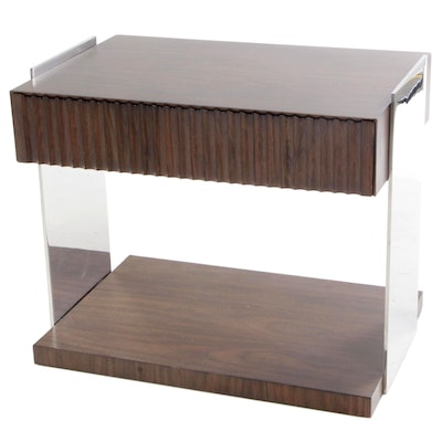 Williams-Sonoma Home Walnut Laminate Table with Fluted Drawer