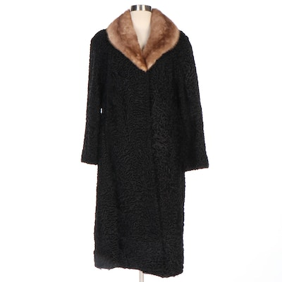 Persian Lamb Coat with Mink Fur Collar from Shillito's Fur Salon