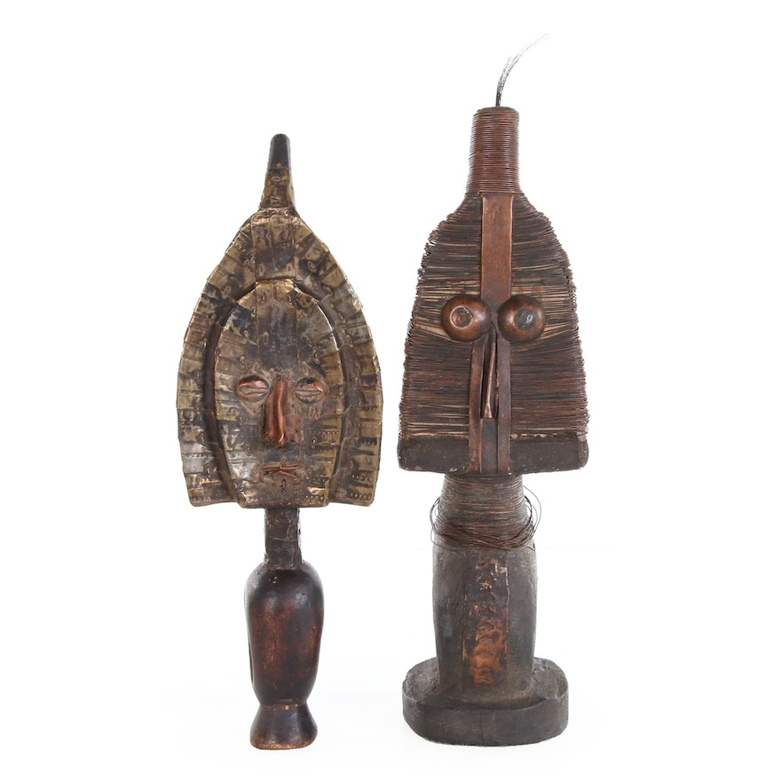 Reliquary Figures After Kota-Mahongwe Artists, 20th Century