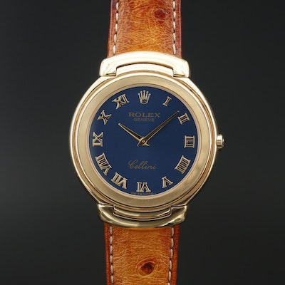 1991 Rolex Cellini 18K Yellow Gold Quartz Wristwatch