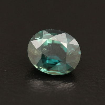 Loose 1.57 CT Oval Faceted Sapphire